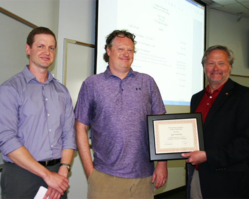Assistant Professor Wolchok receives the Outstanding Research Award